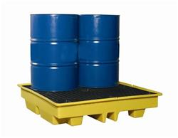 Four Drum Barrel Bunded Spill Pallet