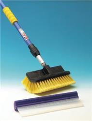 2m Telescopic Extending Thru-Flow Pole Wash Brush & Bodywork Squeegee
