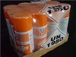 12 x 500ml Orange Perfumed Silicone Sheen Dashboard Shine Aerosol Sprays