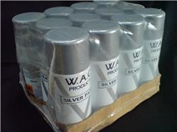 12 Silver Wheel Paint Aerosols