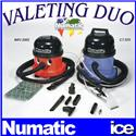Numatic Car Valeting Equipment Duo Machine Package CT 370-2 Carpet Upholstery Extraction Cleaner & NRV 200-22 Vacuum Cleaner