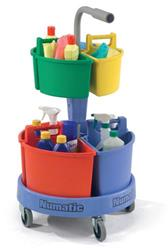 Numatic NC4 Cleaning Materials Janitorial Caddy Carousel Trolley